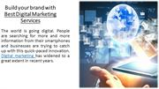 Build your brand with Best Digital Marketing Services
