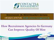 How Recruitment Agencies In Germany Can Improve Quality Of Hire
