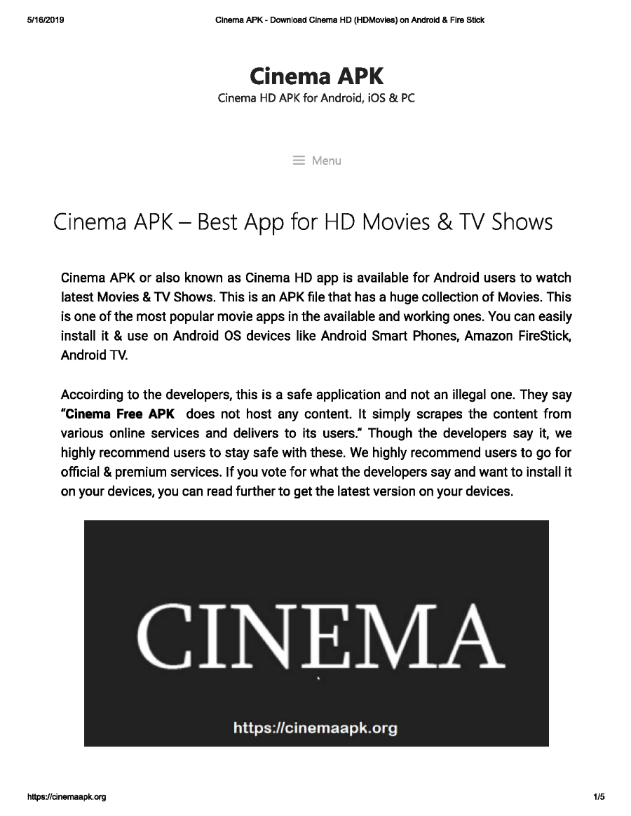 Cinema Apk Download Cinema Hd Hdmovies On Android Fire Stick Authorstream