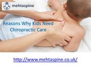Reasons Why Kids Need Chiropractic Care
