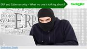 ERP and Cybersecurity – What no one is talking about
