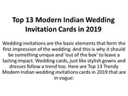 Top 13 Modern Indian Wedding Invitation Cards in 2019