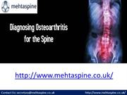 Diagnosing Osteoarthritis for the Spine