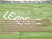 Boldleads Reviews   Why Should You Consider Buying Leads?