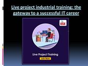 Live project industrial training