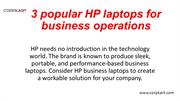 3 popular HP laptops for business operations