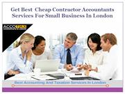 Get Best  Cheap Contractor Accountants In London