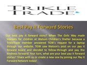 Best Pay It Forward Stories - TrikleTrade