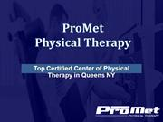 Center of Physical Therapy in Queens NY - ProMet