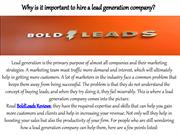 Why is it important to hire a lead generation company?