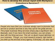 How to develop the annual report with Workplace Compliance Services