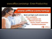 office.com/setup - Enter Product Key