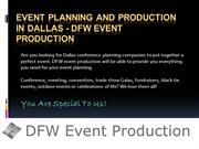 Event Planning and Production in Dallas - DFW Event Production