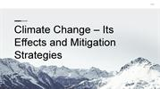Climate Change – Its Effects and Mitigation Strategies (1)