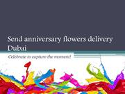 Send anniversary flowers delivery Dubai