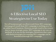 6 Effective Local SEO Strategies to Use Today
