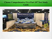 Choose Comprehensive FAA Part 107 Test Study Guide