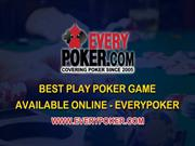 Play Poker game online at EveryPoker