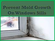 Prevent Mold Growth On Windows Sills