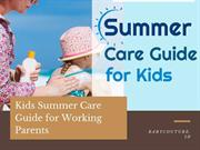 kids summer care guide for working parents