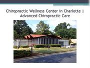 Chiropractic Wellness Center in Charlotte | Advanced Chiropractic Care