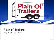 Triple axle enclosed trailer