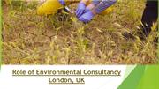 Role of Environmental Consultancy London, UK
