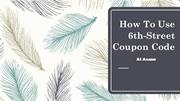 6th-Street Coupon Code UAE On Online Shopping