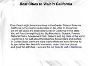cities to visit in California