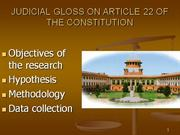 ARTICLE 22 OF THE CONSTITUTION