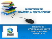Training and Development in HRM (GYAN)