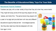 Benefits of educational baby toys