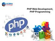 PHP Web Development, PHP Programming - Alobha Technologies