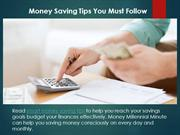 Best Money Saving Tips You Must Follow