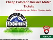 Cheap Colorado Rockies Match Tickets