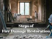 Steps of Fire Damage Restoration Moreno Valley CA