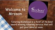 Calculus Tutors- Tutoring Richmond- Mrs Sam