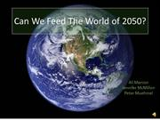 Can We Feed The World of 2050 final vers