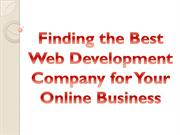 Finding the Best Web Development Company for Your Online Business