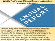 What Is The Purpose Of Annual Reports In Workplace Compliance Services