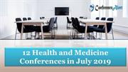 12 Health and Medicine Conferences in July 2019