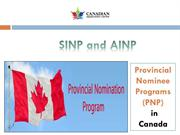 SINP and AINP – Provincial Nominee Programs in Canada