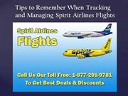 Tips to Remember When Tracking and Managing Spirit Airlines Flights