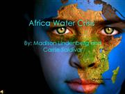 1st Africa Water Crisis Powerpoint