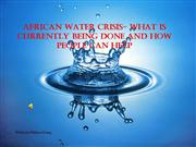 P2 African Water Crisis PowerPoint
