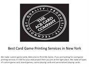 Best Card Game Printing Services in New York