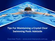 Tips For Maintaining a Crystal Clear Swimming Pools Adelaide
