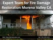 Expert Team for Fire Damage Restoration Moreno Valley CA