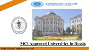 Top MCI Approved Universities In Russia