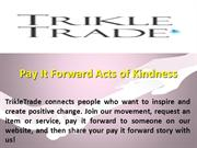 Pay It Forward Acts of Kindness